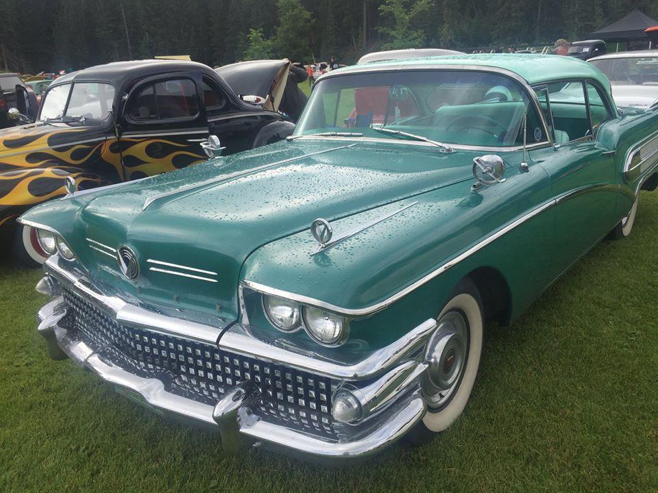 Shiny green Buick